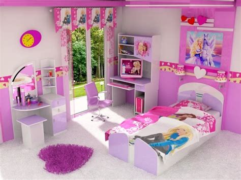 Cartoons Videos Barbie Princess Bedroom Set Decoration