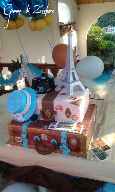 torta  forma  valigia cake design dedicato ai viaggiatori