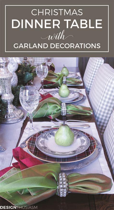 elegant christmas table settings ideas diy home decor ideas christmas dinner table with garland