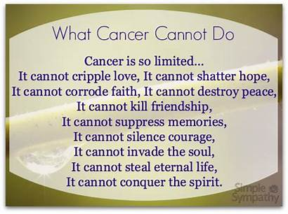 Cancer Poems Patients Comforting Cannot Poem Sympathy