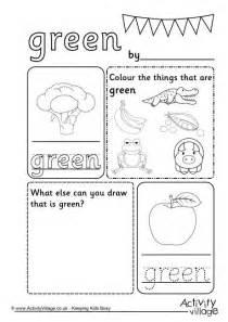 green colour worksheet
