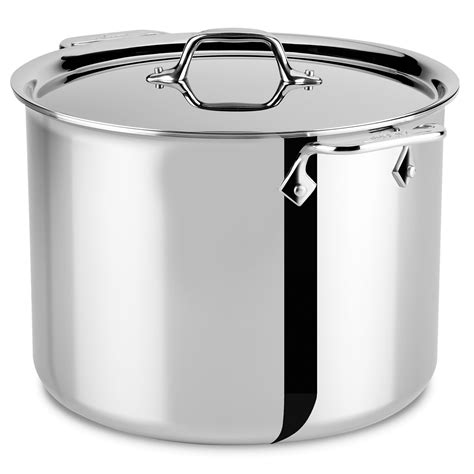 clad  stainless stock pot  quart cutlery