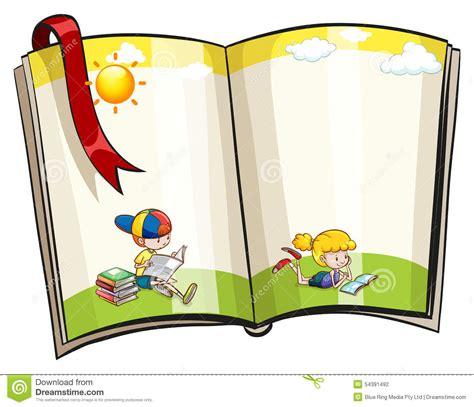 Art Clip Open Reading Book