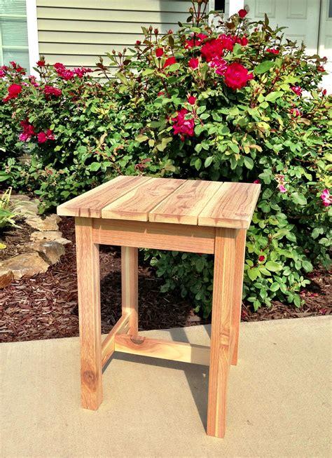 ana white cedar tablestool diy projects