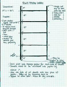 Quilt Display Stand Plans - Quilt Ladder Woodworking Plan