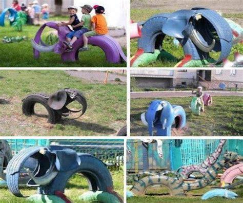 parque infantil material reciclable buscar con reciclaje reciclaje de llantas