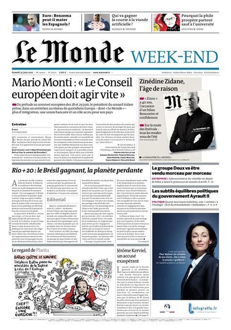 journal le monde samedi 23 juin 2012