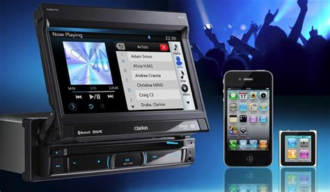 moniceiver 1 din clarion nz502e navigation autoradio usb ipod iphone tft eu navi radio neuware