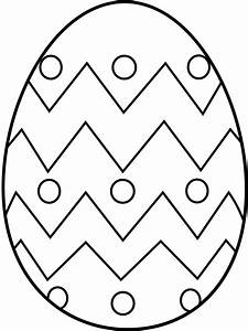 Blank Easter Egg Coloring Fabulous Pages Eggs Inside ...