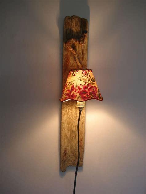 applique bois flott 233 abat jour peint se branche directement 224 une prise chambre