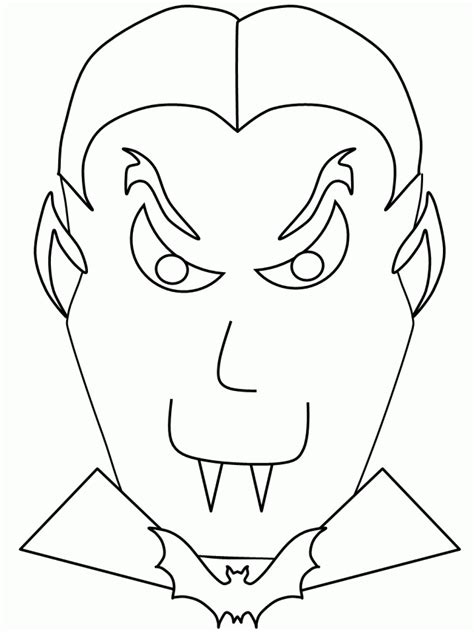 Halloween Vampire Coloring Pages Coloring Pages