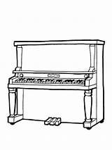 Mycoloring Klavier sketch template