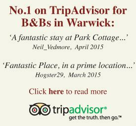 park cottage warwick park cottage bed and breakfast in the of