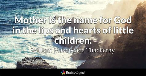 william makepeace thackeray mother     god