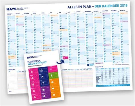 Hays Wandkalender 2019 Kostenlos Bestellen Chip
