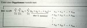 Doppelsumme Berechnen : summenzeichen wie l se ich eine summenaufgabe mit doppelsumme mathelounge ~ Themetempest.com Abrechnung