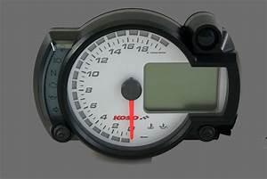 Gp Style Speedometer Rx2n     White    20000 Rpm T U00dcv