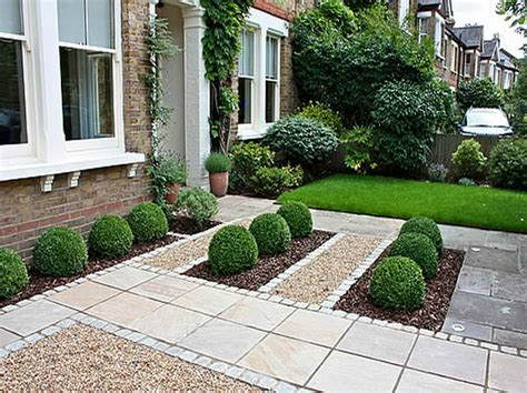 outdoor front garden design ideas with common style