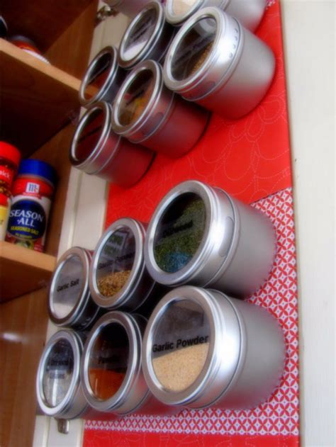 Make A Magnetic Spice Rack by 15 Fantastic Diy Organizing Ideas To Make Use Of In The