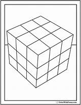Cube Coloring Pages Rubics Shape Rubiks Cubes Blocks Squares Colorwithfuzzy sketch template