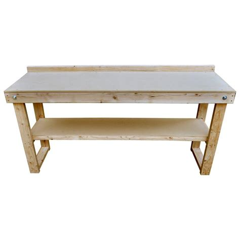 bench home depot signature development 72 in fold out wood workbench