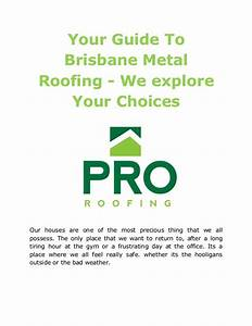 Your Guide To Brisbane Metal Roofing