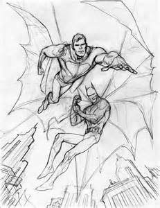 Easy Pencil Drawings Superman vs Batman