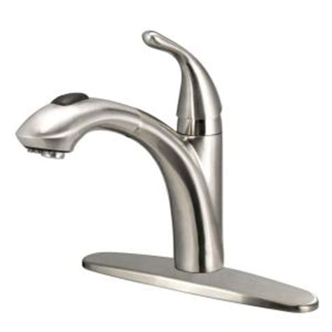 how to install glacier bay kitchen faucet glacier bay keelia single handle pull out sprayer kitchen faucet in brushed nickel fp4a0052bnv