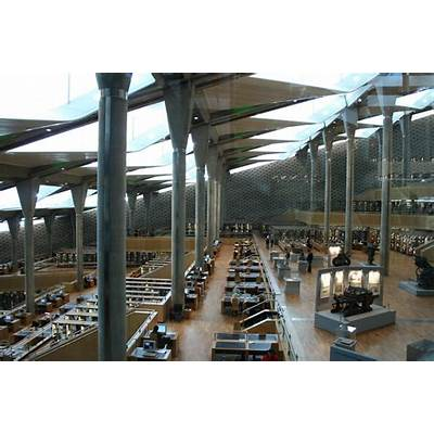 Bibliotheca Alexandrina Egypt Interior view of read room