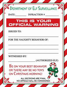 a cute christmas elf warning letter and or a personalized With elf letters to santa