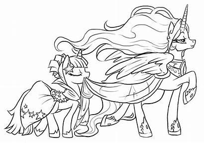 Coloring Princess Celestia Pages Mlp