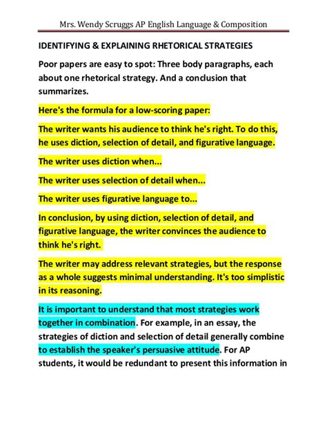 Subject Analysis Essay Rhetorical 10 Techniques Used