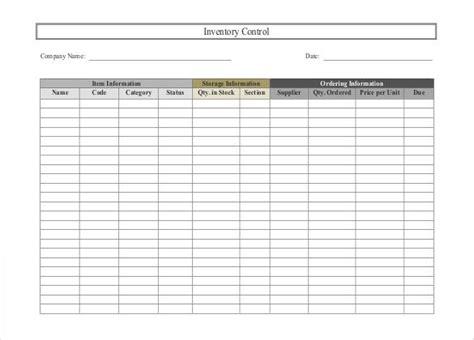 inventory spreadsheet templates  sample