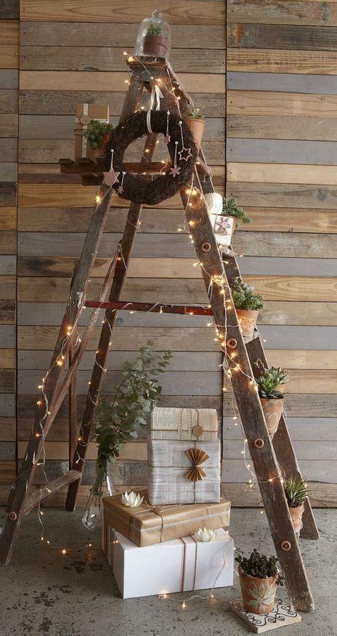 Günstige Zäune Aus Holz by Ideas Para Decorar La Navidad Con Escaleras De Mano
