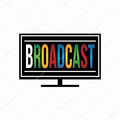 Broadcast Tv Illustration Vector Deskcube Depositphotos
