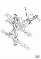 Station Space Coloring International Pages Hubble Printable Telescope Drawings sketch template