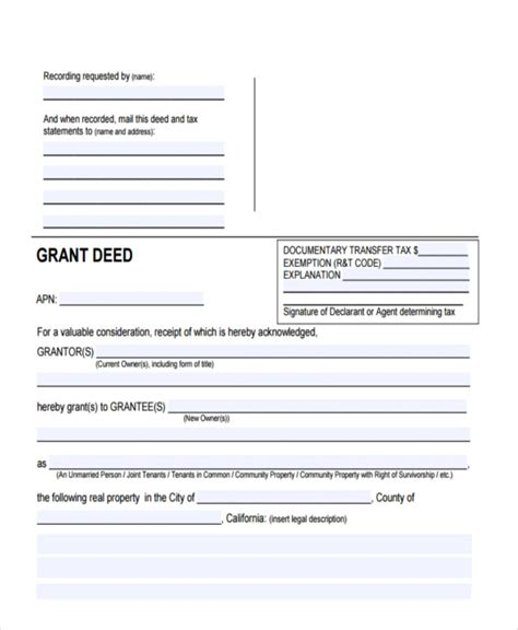 sample deed forms