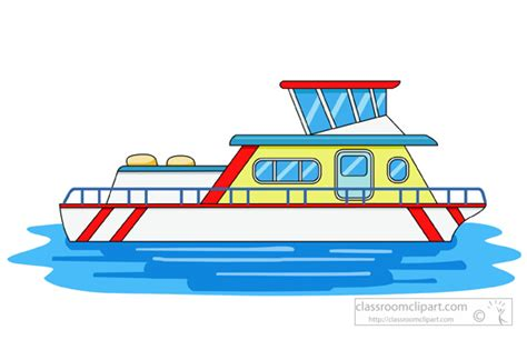 Clipart Boats And Ships by Boats And Ships Clipart Houseboat In Water Clipart 942