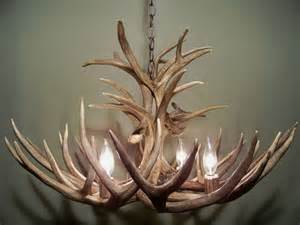 mule deer antler chandelier for the home