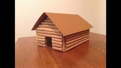 Cabin Log Paper Brown Bags
