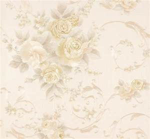 Wallpaper Romantica flower cream beige AS 30647-1