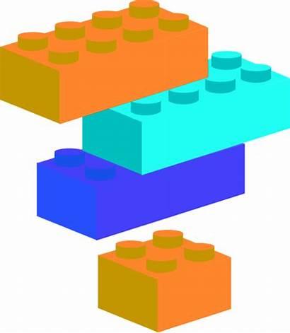 Lego Clip Clipart Legos Block Brick Bricks