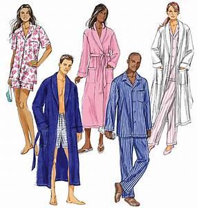 butterick 5537 misses39 men39s robe belt top shorts and pants With robe de chambre pour homme