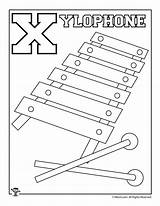 Xylophone Coloring Printable Pages sketch template