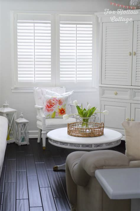 Our Cottage Home and New Plantation Shutters from blinds.com   Fox Hollow Cottage