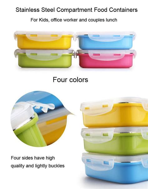 color square thermos containers hot food thermos food