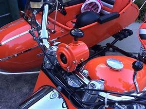 1959 Cushman Red Super Eagle  U0026 Red Cozy Sidecar