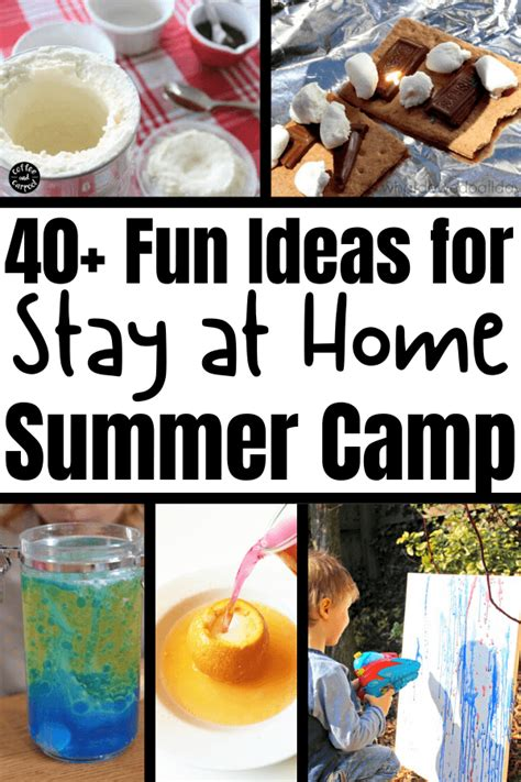 How to Have a Stay at Home Summer Camp