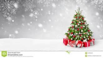christmas tree and snow background stock photo image 62309406