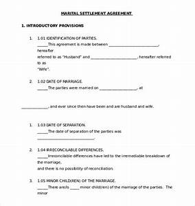 Separation agreement template 13 free word pdf for Seperation agreement template